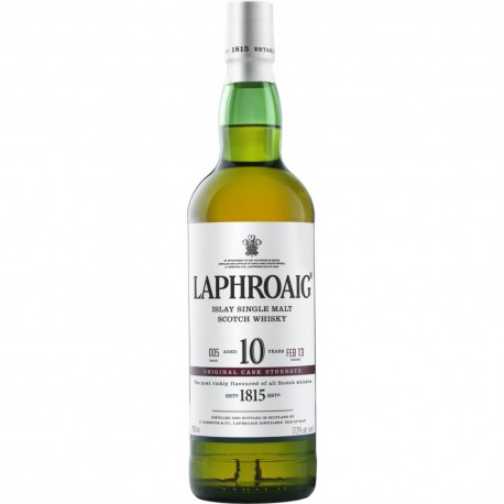 LAPHROAIG ISLAY SINLGE MALT SCOTCH WHISKY 10 AÑOS
