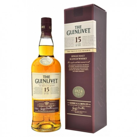THE GLENLIVET SIGLE MALT SCOTCH WHISKY 15 AÑOS