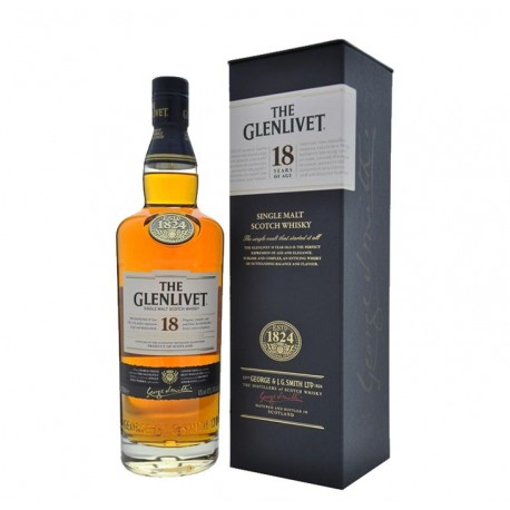 THE GLENLIVET SINGLE MALT SCOTCH WHISKY 18 AÑOS