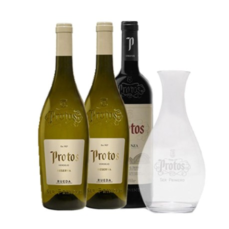 PACK PROTOS BLANCO Y TINTO + DECANTADOR